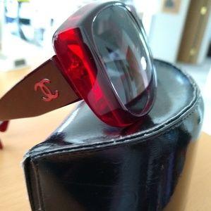 CHANEL Accessories - 💯 authentic CHANEL Sunglasses- Wine color!